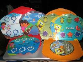 Fisher Price Interactv DVD SpongeBob Krusty Krab Adventures & Dora Inserts  - $16.82