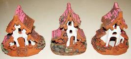 """Spanish Miniature Houses Handmade and Painted 4"""" Terracota Clay Terrariu... - $20.00"""