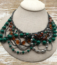 Talbots Multi-layered/color beaded acrylic bead necklace - $15.00