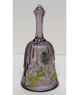 Fenton Violet Beauty mini-bell - Decorated + signed by George W. Fenton ... - $50.00