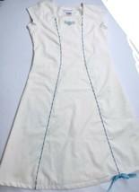 American Girl Vintage Dress Cream Ivory Blue Sz 10-12 Full Length Doll C... - $98.99