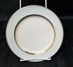 "French Saxon China Co Side Plates Set of 3 7.25"" White & Lgt Blue Pottery Salad image 1"