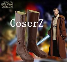 Star Wars Jedi Obi-Wan Kenobi Cosplay Shoes Boots Halloween Carnival Shoes Cospl - $59.00