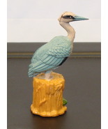 Heron Bird PVC Toy Figure K & M Rare ~ reeds egret bittern Ardeidae - $5.90