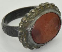 Rare Georgian Occultist/Masonic Memento Mori Skull Carnelian wax seal ri... - $2,030.00