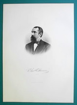 CHARLES SLOCUM M.D. New York Born Surgeon & Banker - 1881 Superb Portrai... - $16.20