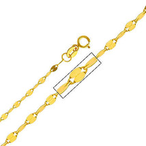 14k Yellow Gold 2-mm Mirror Chain Necklace - $68.85+