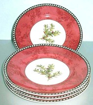 """Lenox Etchings English Yew 4 Piece Accent Lunch Plate Winter Holiday 9"""" New - $115.90"""