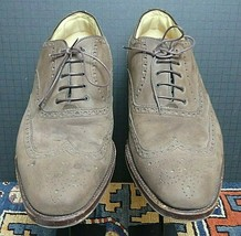 Men's Faconnable Brown Suede Wing-Tip Oxford Italy Sz. 11EE Excellent! - $42.39
