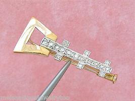 VINTAGE .42ctw DIAMOND 14K RUSSIAN BALALAIKA SITAR BASS GUITAR MUSIC PIN... - $761.31