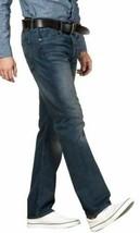 Levi's 501 Men's Original Fit Straight Leg Jeans Button Fly Blue 501-2166