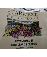 1 OZ Neem Dried Leaf Organic (Azadirachta indica) - $4.95