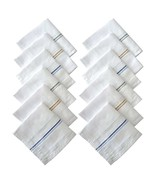 Men's 100% Cotton Essential Handkerchiefs white colour Base 12 pcs of set - $15.33