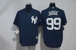 Men's New York Yankees #99 Aaron Judge Navy blue baseball Stitched Jersey - $752,82 MXN
