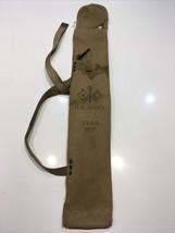 Original WWI WWII U.S. Army Signal Corps Flag Kit Case Khaki Tan Canvas ... - $18.65