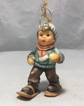 Berta Hummel Goebel 1997 Figurine Walking Thru The Snow Christmas tree o... - $18.80