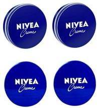 4 Can of 150 mL/ 5 Oz NIVEA CREAM Original Skin Hand CREME moisturizer Metal Tin - $17.72