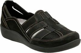Womens Clarks Cloudsteppers Sillian Stork Casual Shoes - Black, Size 8 M US - $87.99