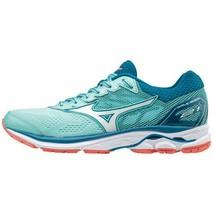 Mizuno WAVE RIDER 21 Women's Running Shoes Aqua Marathon Walking J1GD180365 - $69.21