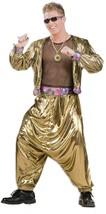 63310 90s Rapper Costume Gold Lame - $50.88