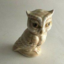 "Vintage Owl Ceramic Figurine Statue  4.75X3X2"" Mid Century Collectible - $7.72"