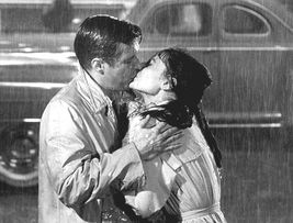 Breakfast Tiffany's Kiss Audrey Hepburn TKK Vintage 24X30 BW Movie Photo - $41.95
