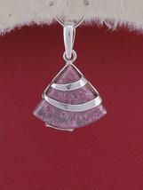 Handmade Sterling Silver Pendant Necklace/ Rhodonite Stone Pendant/PK130 - €20,47 EUR