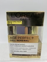 L'Oreal Age Perfect Cell Renewal Renewing Day Creme Mature LHA 1.7oz 9/21 - $9.49