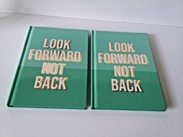 """Jot Journals """"LOOK FORWARD NOT BACK"""" Green Diary Notebook Lined 7x5 in 6... - $17.82"""