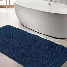 LINLA Non-Slip Soft Microfibers Chenille Bathroom Rug Mat, Machine Washa... - $30.46