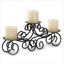 Tuscan Candelabra Candle Stand Large Candleholder Black Wedding Centerpiece - $14.19