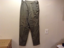 Lee Army Green Women's Pleated Casual Pants Sz 12M