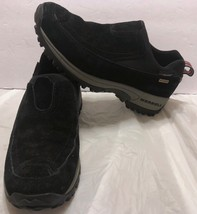 Merrell Polartec Waterproof Nubuck Moc Black Shoes Size 7 Slip On Hiking... - $40.58