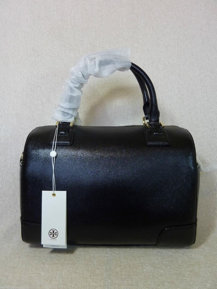 NWT Tory Burch Classic Black Saffiano Leather Robinson Middy Satchel $575