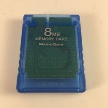 Official Genuine OEM Clear Blue 8 MB Memory Card for Sony PlayStation 2 PS2 - $10.78