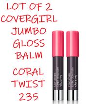 Cover Girl Lip Perfection Coral Twist 235 Jumbo Gloss Balm Lot Of 2 - $7.55