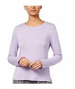 Jennifer Moore Womens Ruffle Trim Pajama Top Summer Lilac - $29.50