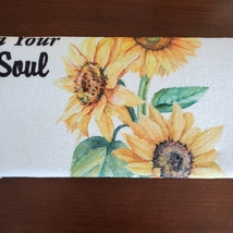 Kitchen Drying Mat, Sunflower Design, Let the Sunshine on Your Soul, Yellow image 2