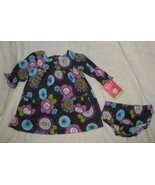 Baby Girl/Doll Infant 0-3 Month Carters Purple Long Sleeve Floral Dress NEW - $14.84