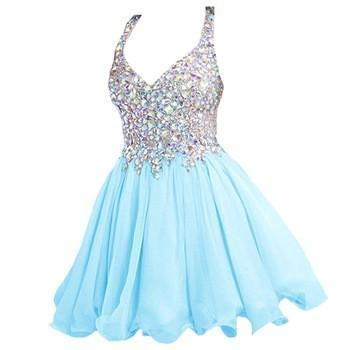 Blue Homecoming dresses,short prom Dress,charming Prom Dresses,Party dress
