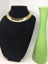 Vintage Gold Tone Mirrored Choker Necklace1481 - $24.75