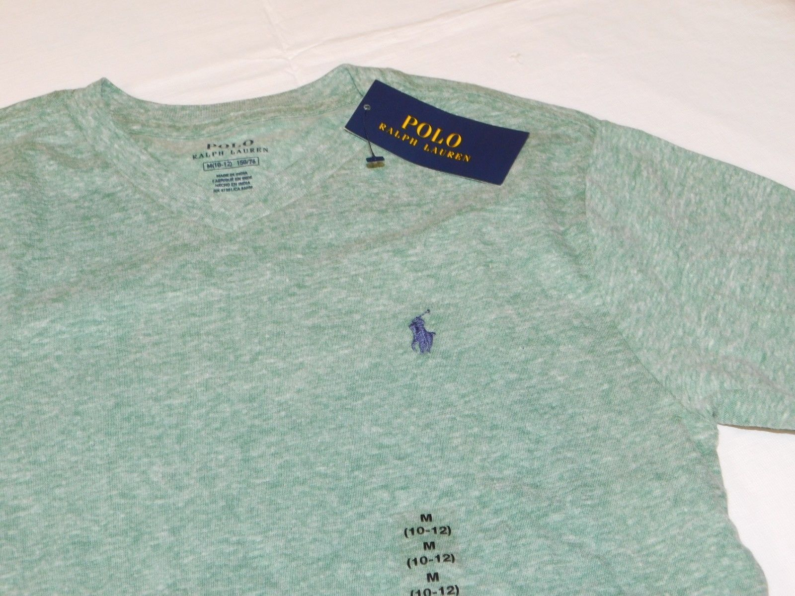 Polo Ralph Lauren Boys Youth Short Sleeve T Shirt M 10-12 Green Heather 644003