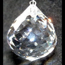 Swarovski 20mm Clear Swirl Cut Ball Prism image 2