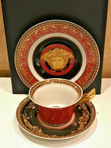 Versace by Rosenthal Set Tea Trio Medusa Collection Ikarus NEW - $267.30
