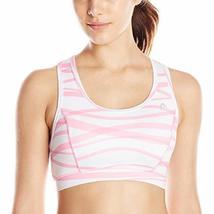 HEAD Women's Swirl Print Bra, Begonia Pink, Medium