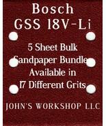 Bosch GSS 18V-Li - 1/4 Sheet - 17 Grits - No-Slip - 5 Sandpaper Bulk Bun... - $7.14