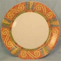 Dinner Plate Sand Art (Corelle) by CORNING Blue Green Rust Geo Width 10 1/4 in  - $9.49