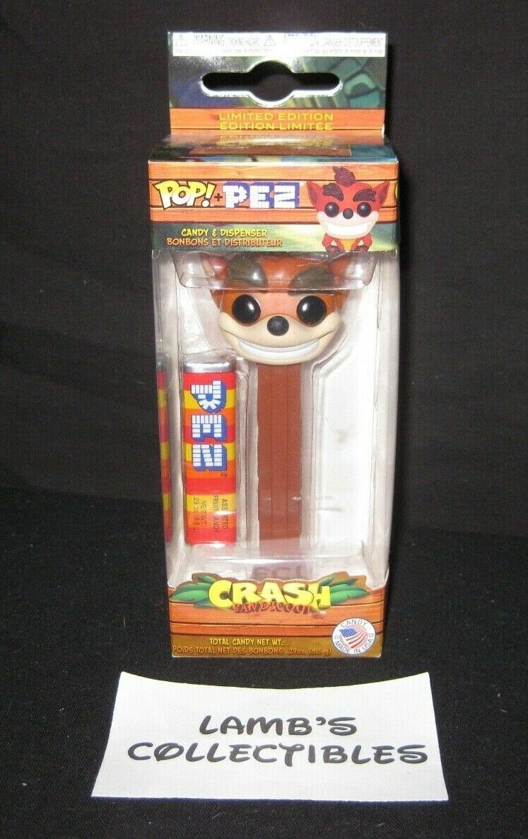 Primary image for Funko Crash Bandicoot POP PEZ Dispenser Candy Collectibles Limited Edition