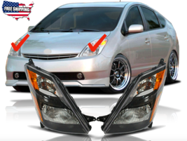 Fit For 2006 2007 2008 2009 Toyota Prius Headlights Headlamps Black Hous... - $130.89