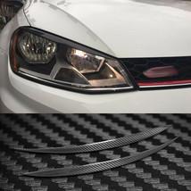 Carbon Fiber Headlight Cover Eyebrows Eyelid Trim Decals For Volkswagen ... - $69.29
